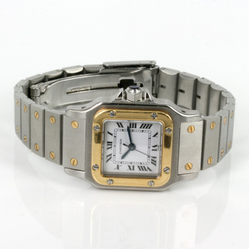 Ladies automatic gold & steel Cartier Santos..