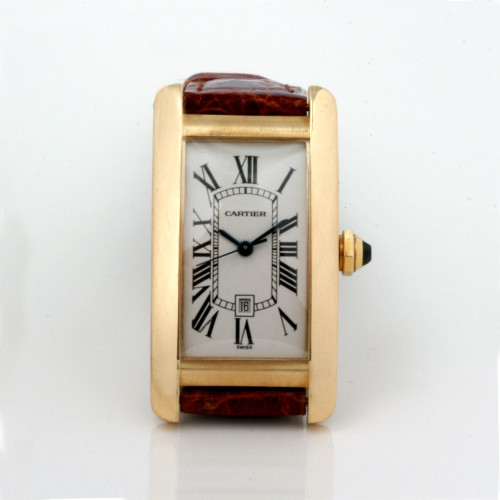 Automatic 18ct Cartier Tank Americaine, model 1725