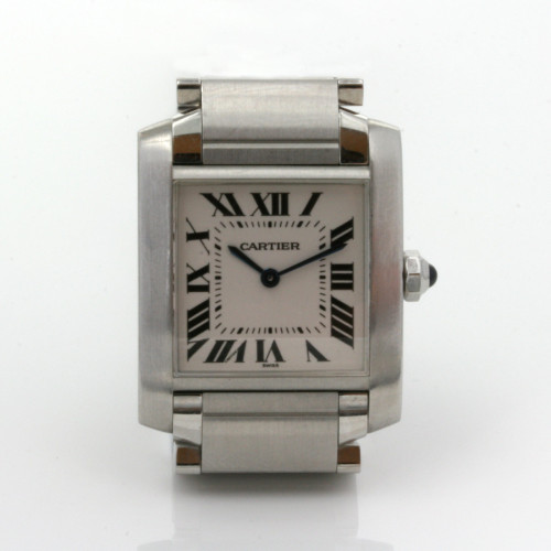 Stainless steel Cartier Tank Francais model 2301