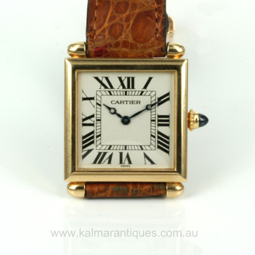 18ct Cartier Tank Obus model 16302