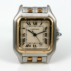 18ct & steel Cartier Panthere watch with date.