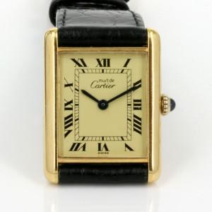 Manual wind Cartier Tank watch