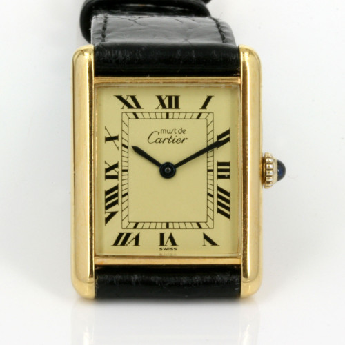 Manual wind Cartier Tank watch
