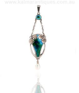 Charles Horner enamel pendant