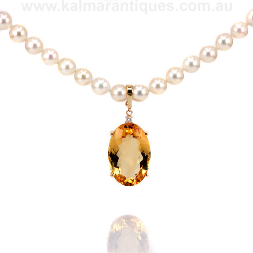 18ct Citrine and diamond enhancer