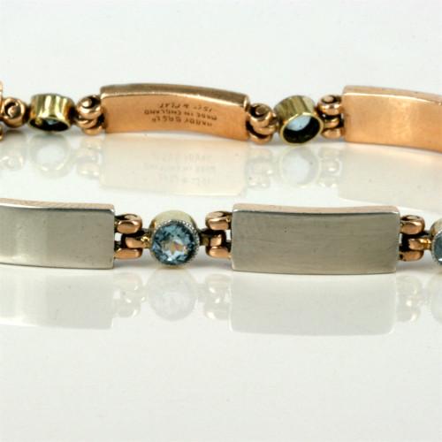 Art Deco aquamarine bracelet by Hardy Bros.