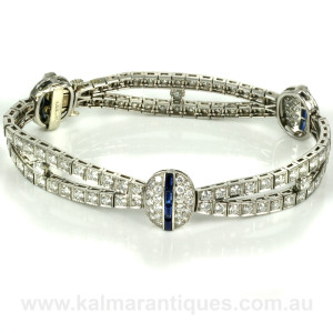 Sapphire diamond bracelet by Shreve Crump and Low