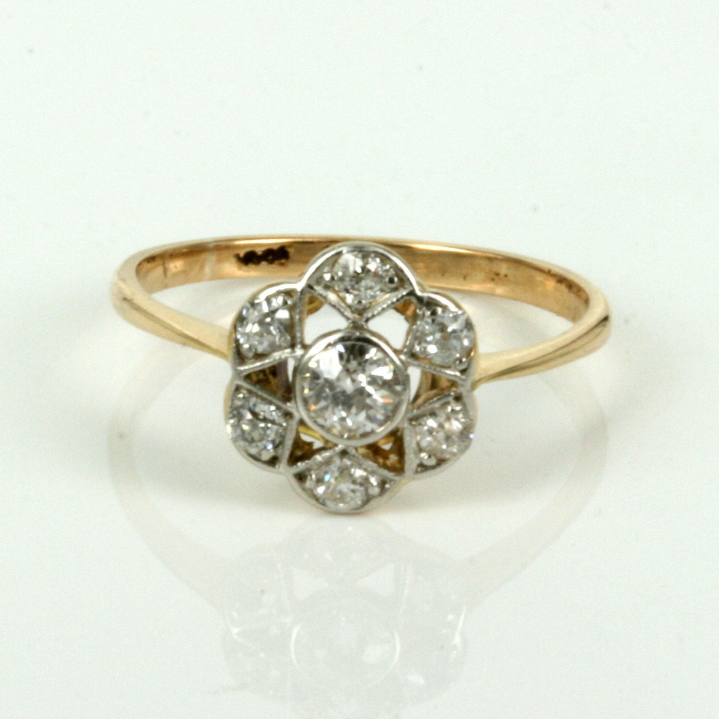 buy antique diamond engagement ring in a lovely cluster. Black Bedroom Furniture Sets. Home Design Ideas