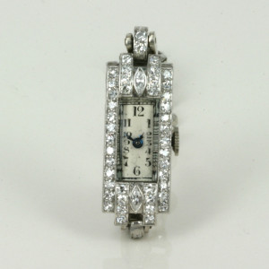 Art Deco diamond watch from the 1920's.