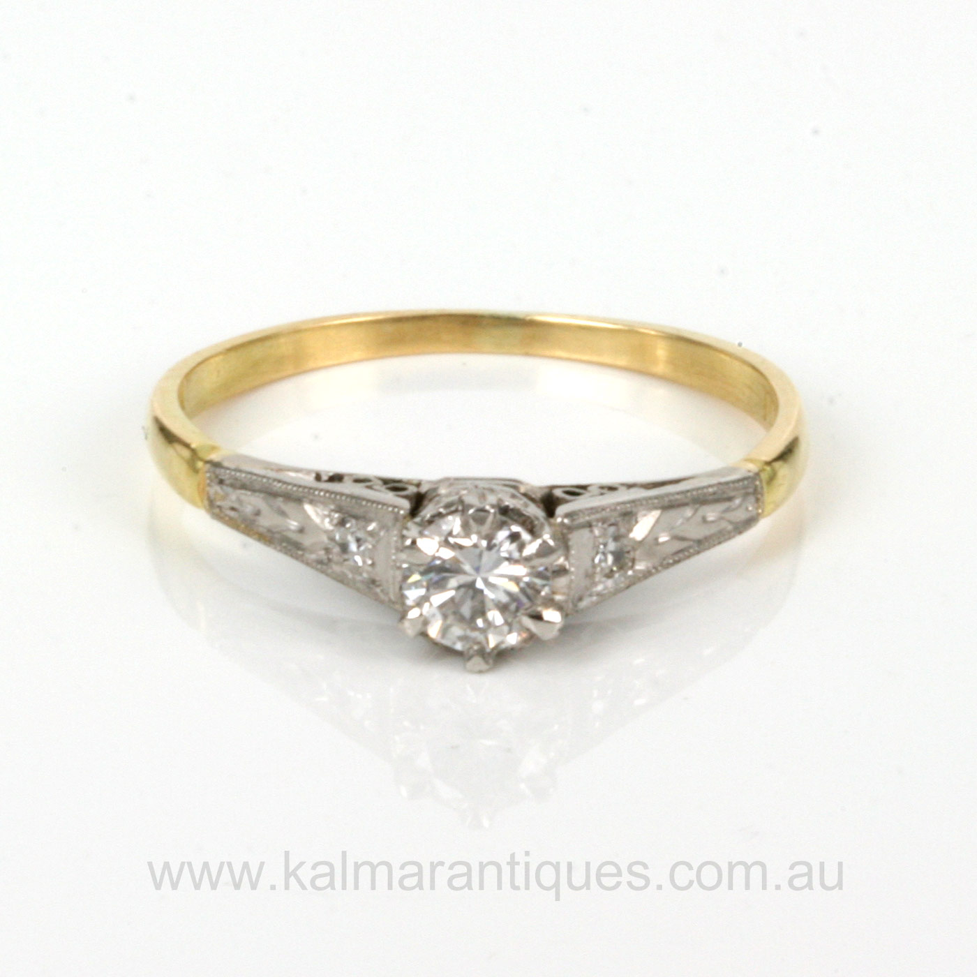 Antique Diamond Engagement Rings 1930s