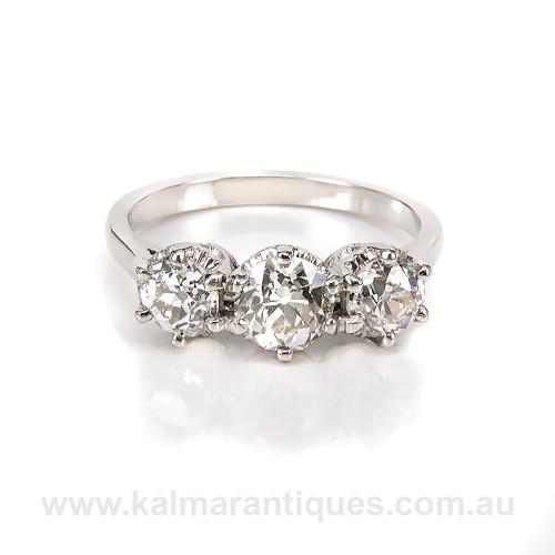 3 stone diamond engagement ring in platinum 3 stone diamond engagement ring in platinum