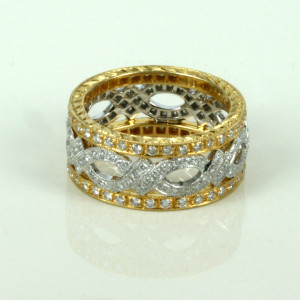 Yellow & white gold diamond eternity ring