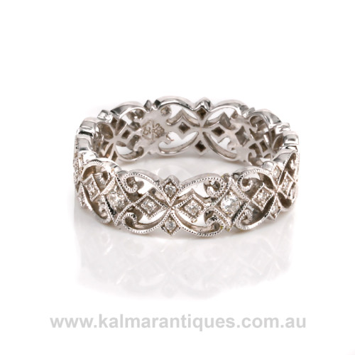 18ct white gold diamond eternity ring