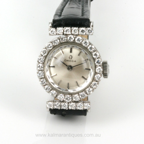18ct diamond set Omeag watch from 1968
