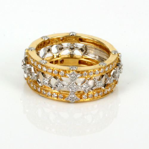 18ct fancy diamond ring in yellow & white gold