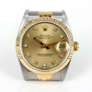 18ct & steel Midsize diamond dial Rolex 68273g