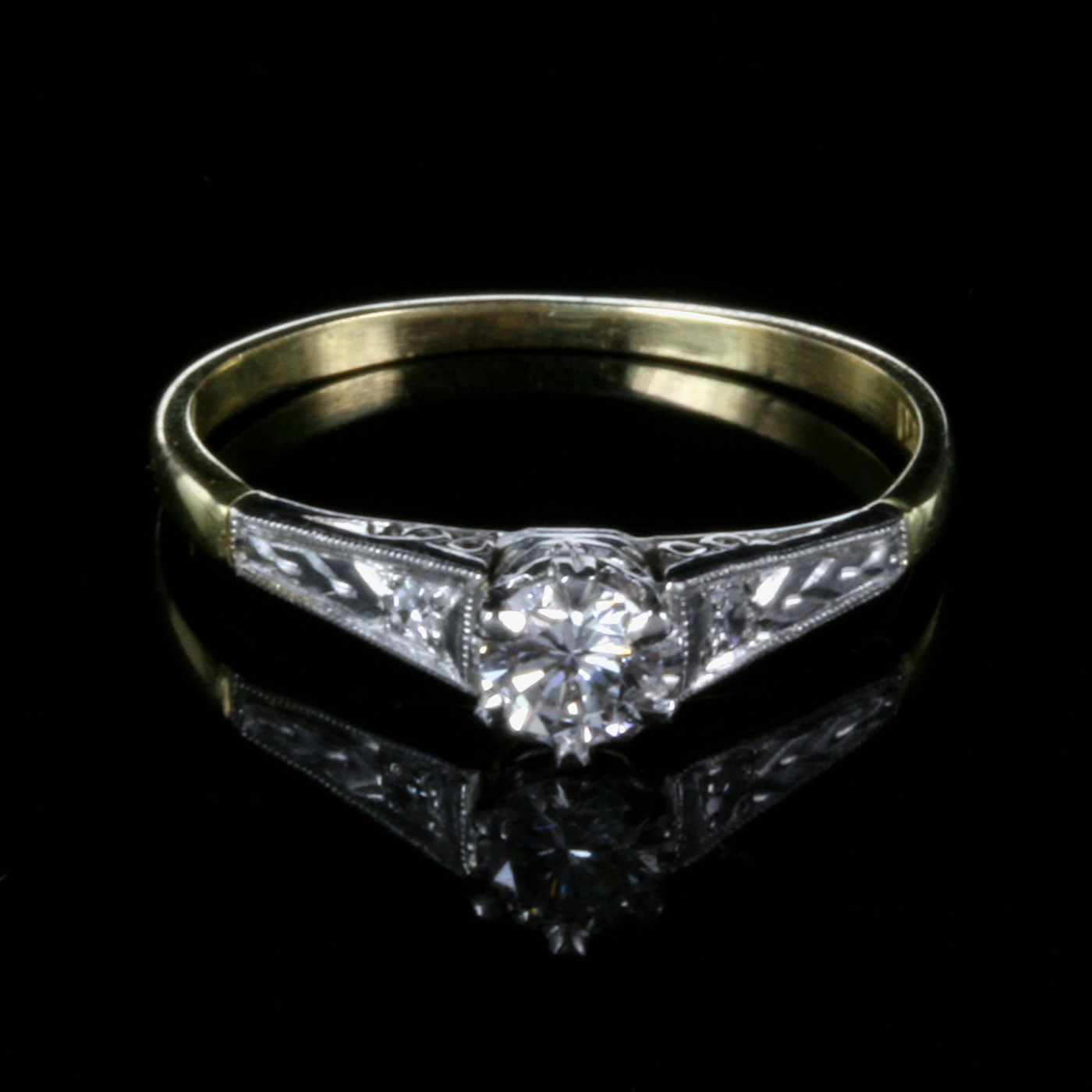 1930's Art Deco Diamond Engagement Ring