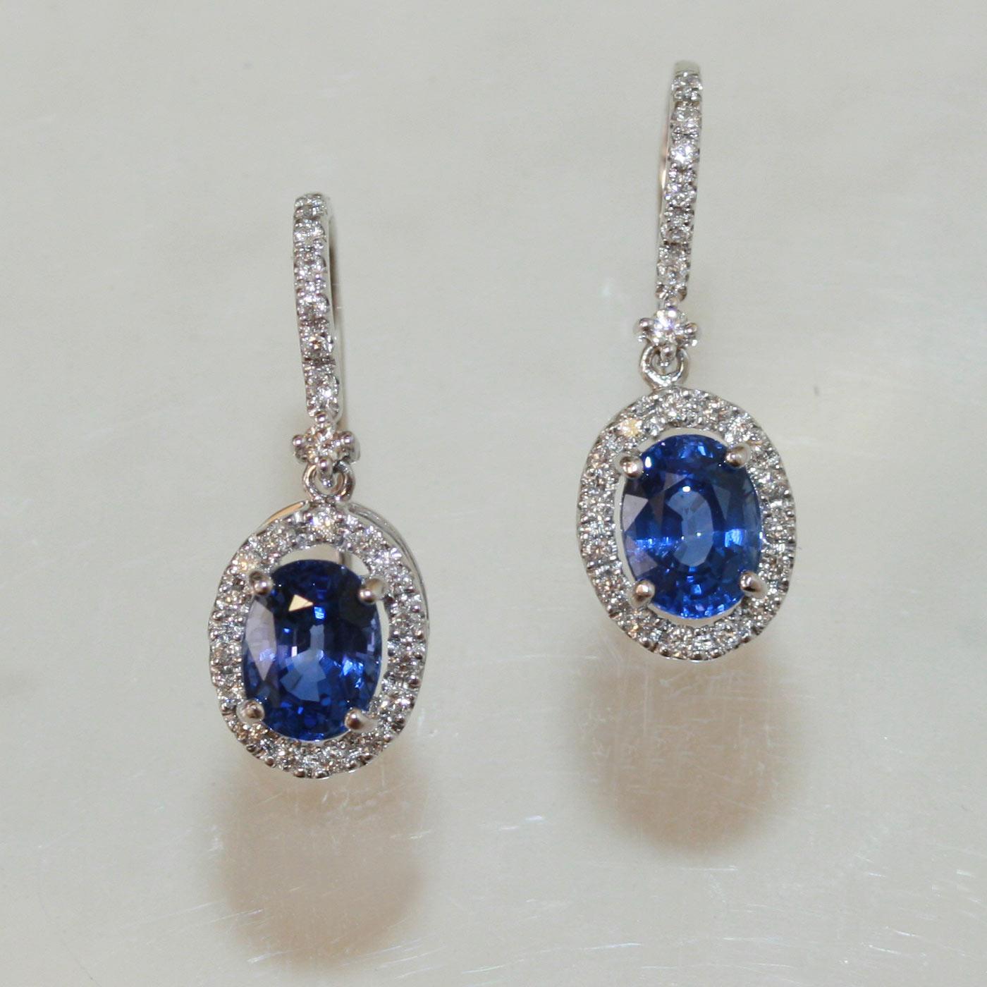 Buy Ceylonese Sapphire Drop Earrings Sold Items Sold