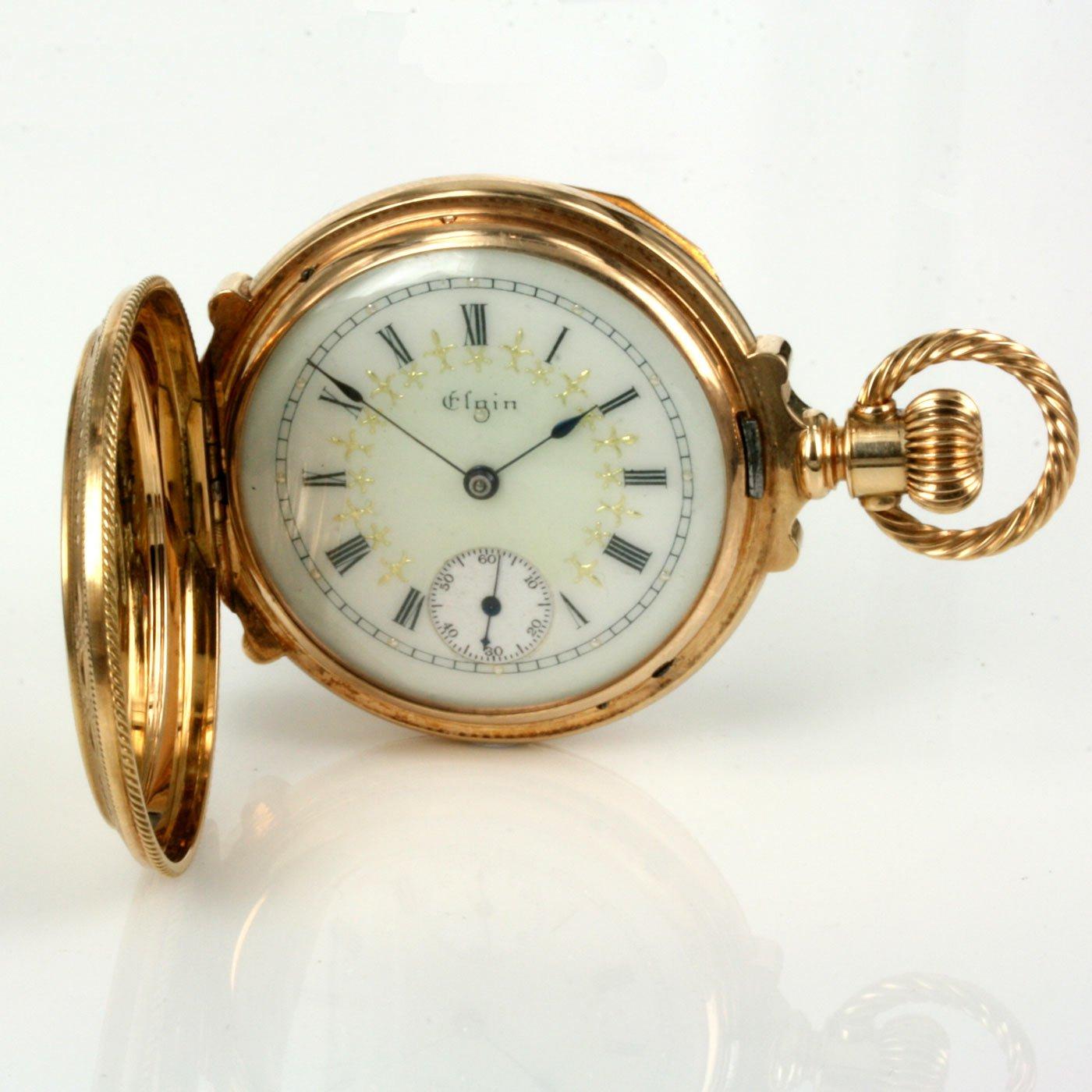 Buy Pristine antique 14ct gold Elgin pocket watch. Sold ...
