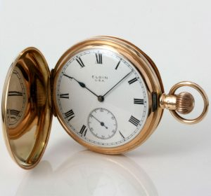 Gents solid gold Elgin pocket watch in 15ct gold