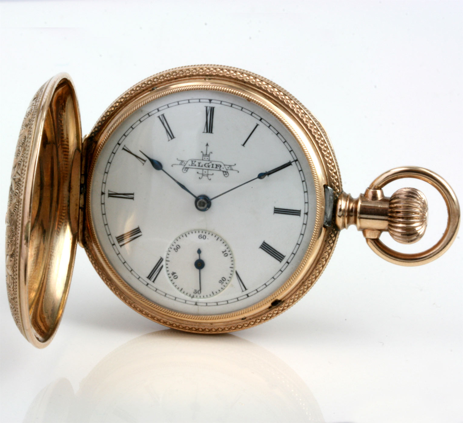 buy antique elgin pocket in 4 colour gold sold