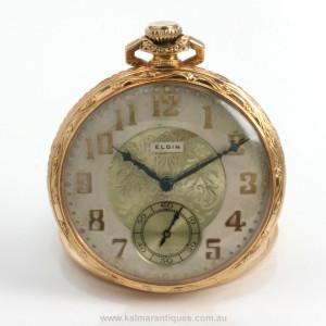 14ct Elgin pocket watch grade 345