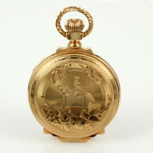 Pristine antique 14ct gold Elgin pocket watch.