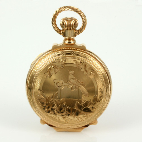 Pristine antique 14ct gold Elgin pocket watch.