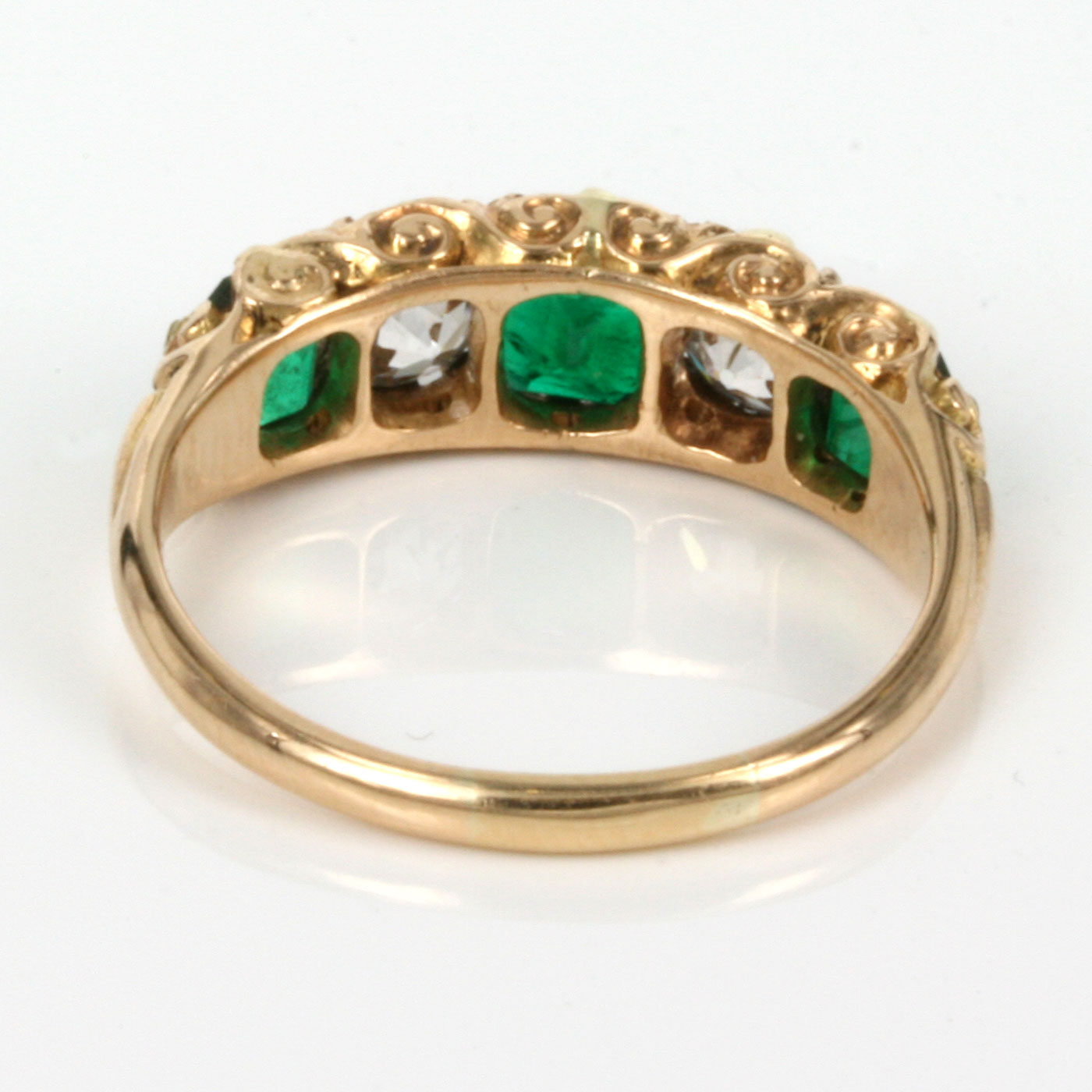 buy 18ct antique emerald and ring sold items sold