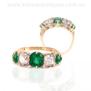 Art Deco emerald and diamond ring dating from the 1920's