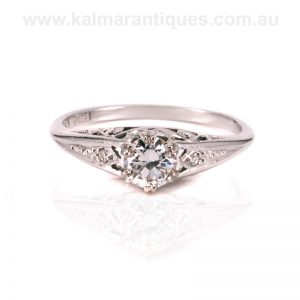 Vintage Art Deco diamond engagement ring dating from the 1930's