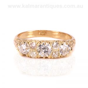 Stunning antique diamond engagement ring dating from the 1890's