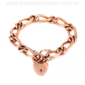 9 carat rose gold fancy bracelet made in 1900