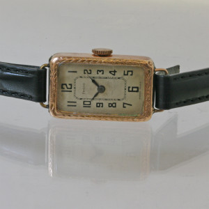 Ladys rectangular watch.
