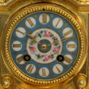French antique clock made in 1867 by Phillipe Moures