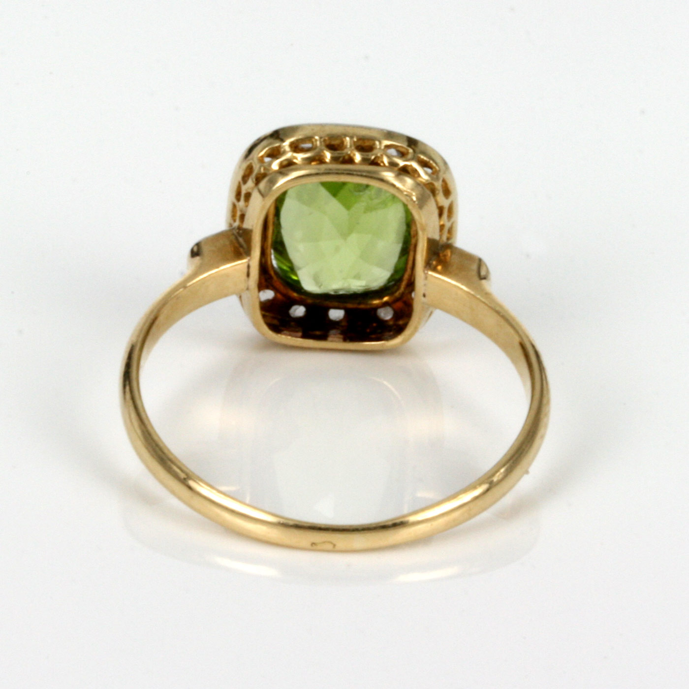 buy antique peridot and ring made in sold
