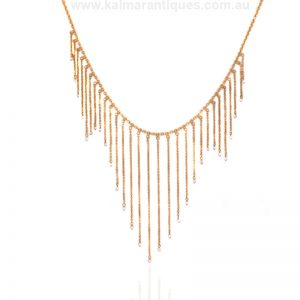Art Deco fringe pearl necklace made in the 1920's