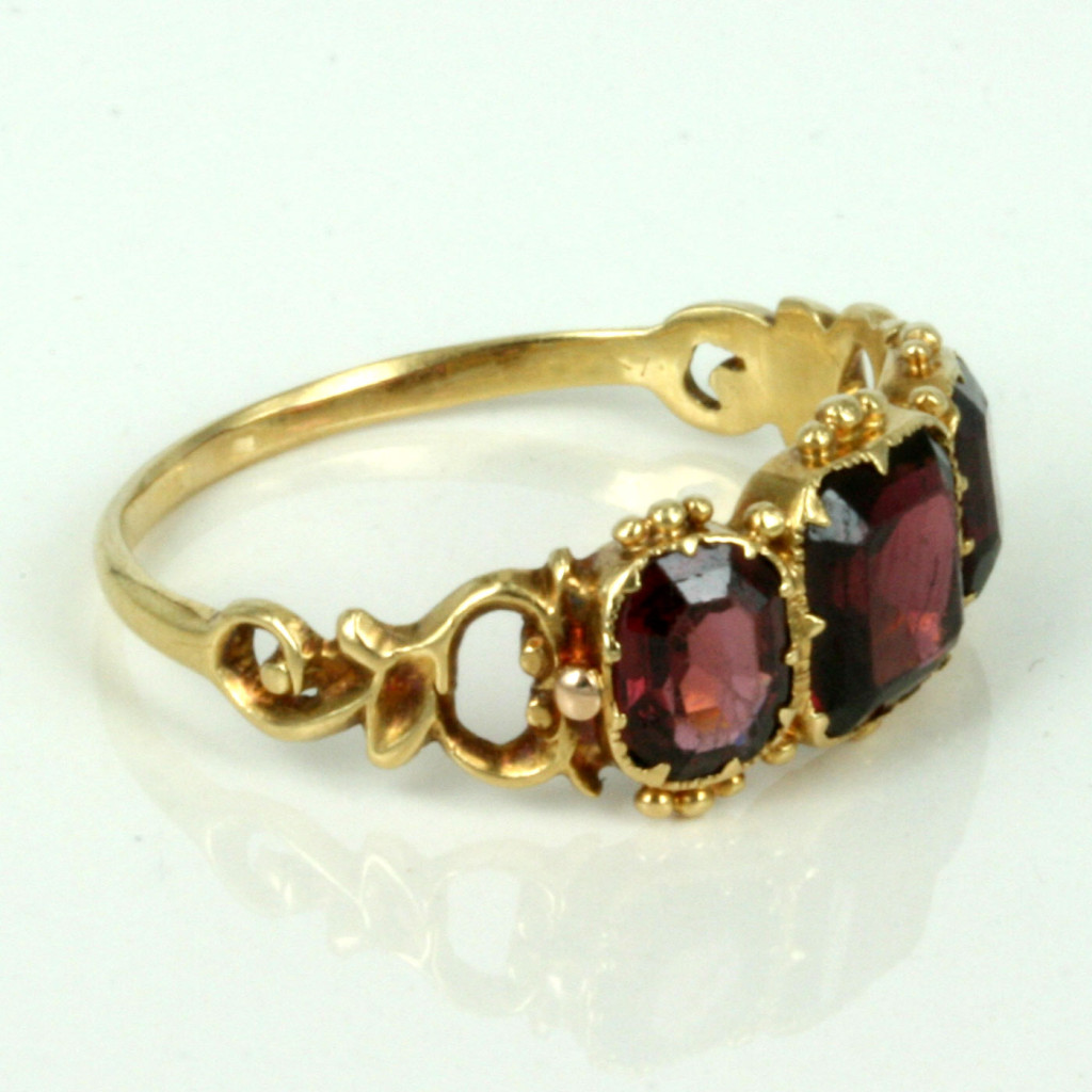 Garnet Bands: Buy Antique Garnet Ring From The 1840's. Sold Items, Sold