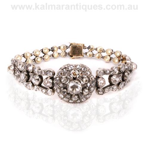 Antique Georgian diamond bracelet