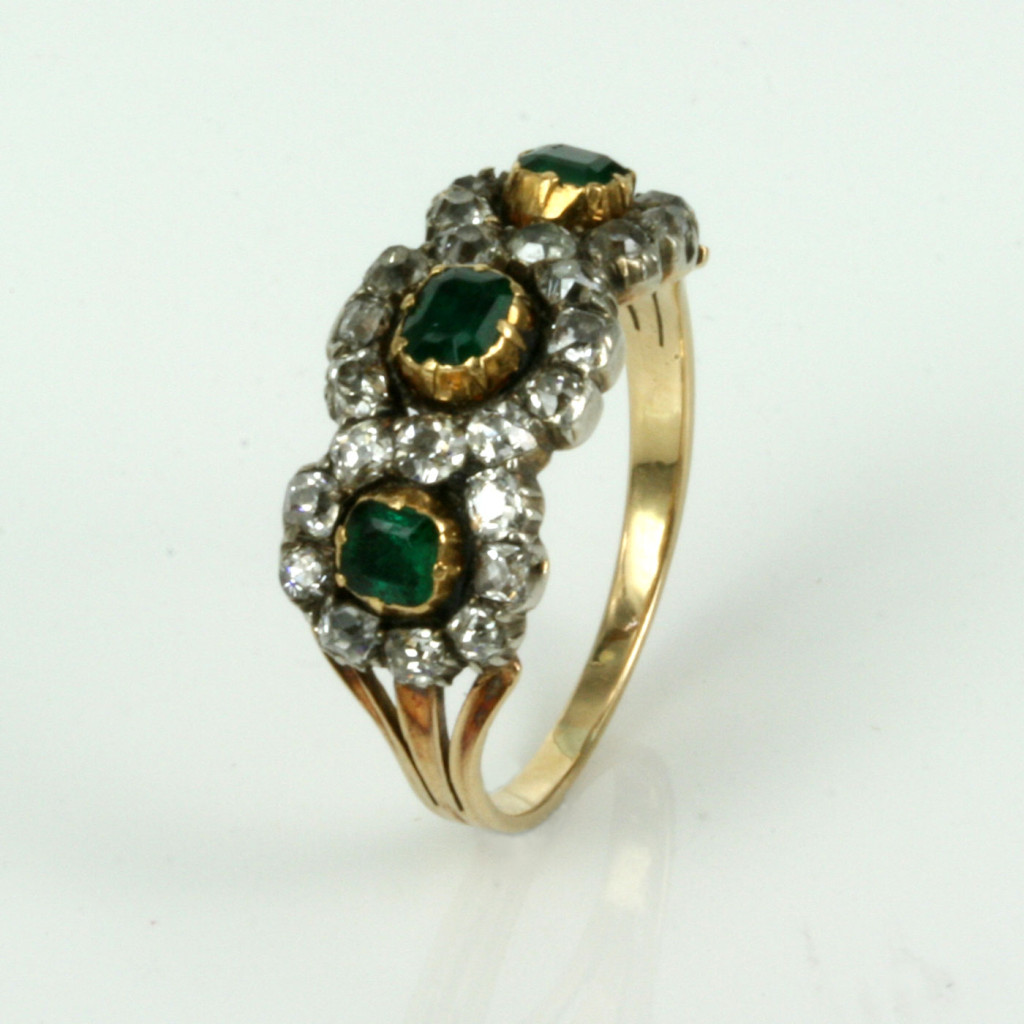 Buy Antique Georgian Era Emerald And Diamond Ring Sold