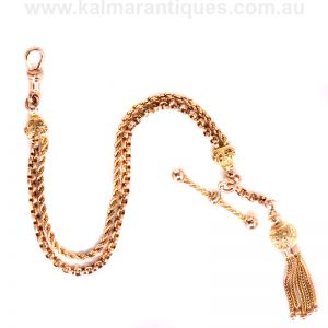Antique gold Albertina made in rose gold in the 1890's