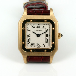 Lady's 18ct automatic Cartier watch.