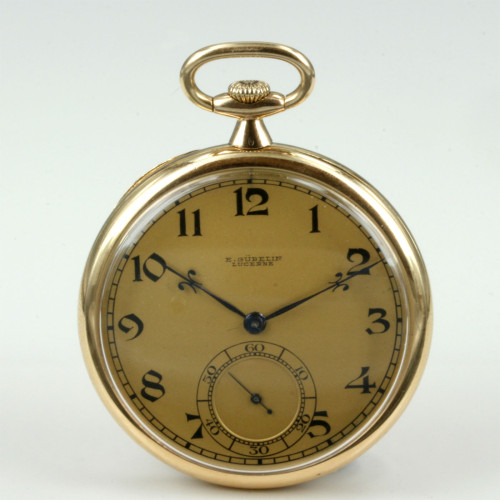High grade 18ct pocket watch by Gubelin.