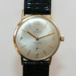 14ct gold vintage Hamilton watch.