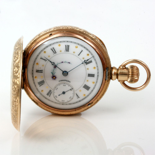 14ct Hampden pocket watch.