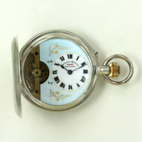 Full hunter Hebdomas 8 day pocket watch
