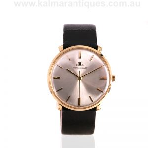 18ct manual wind gold vintage Jaeger LeCoultre watch