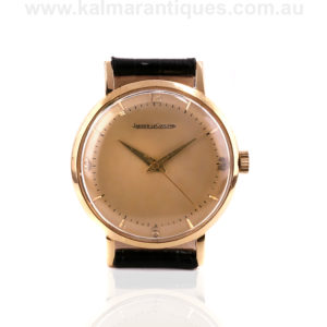 1950's 18ct rose gold vintage Jaeger LeCoultre watch