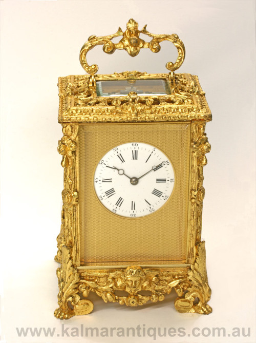Antique repeater carriage clock Jules Brunelot