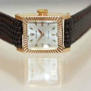 18ct lady's Rolex Precision watch.